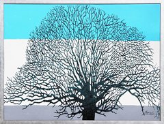 Tree on Blue