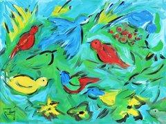 Birds Among Berries
