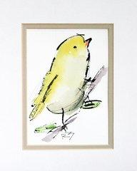 Watercolor Bird #442