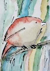 Watercolor Bird #307