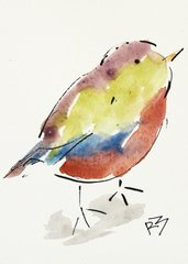 Watercolor Bird #504