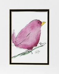 Watercolor Bird #457
