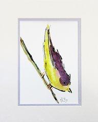 Watercolor Bird #197