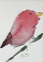 Watercolor Bird #460