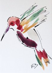 Watercolor Bird #503