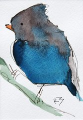 Watercolor Bird #488
