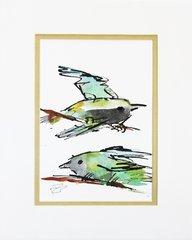 Watercolor Bird #279