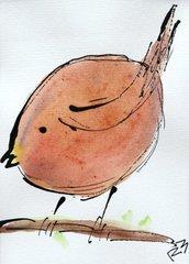 Watercolor Bird #499