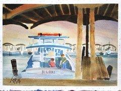 Boat in Biloxi / Stilt House (on back)