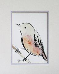 Watercolor Bird #290