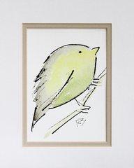 Watercolor Bird #447