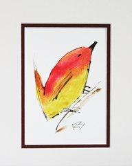 Watercolor Bird #475