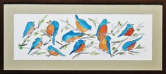 Blue and Orange Birds