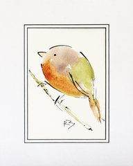 Watercolor Bird #507