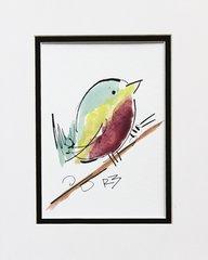 Watercolor Bird #510