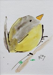 Watercolor Bird #473