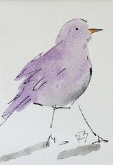 Watercolor Bird #454