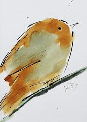 Watercolor Bird #359