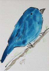 Watercolor Bird #469