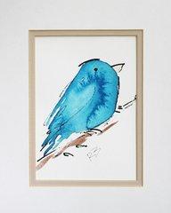 Watercolor Bird #448