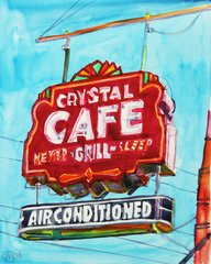 Greenwood | Crystal Cafe Sign