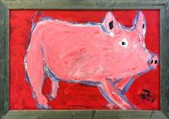 Pig on Red