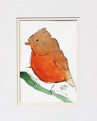 Watercolor Bird #486