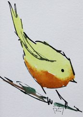 Watercolor Bird #319
