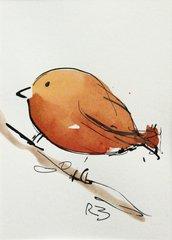 Watercolor Bird #515