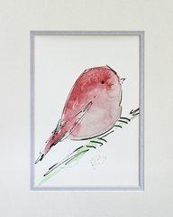 Watercolor Bird #341