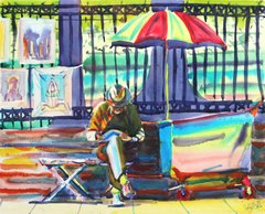 Artist on Bench (New Orleans)