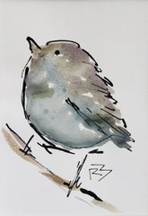 Watercolor Bird #494
