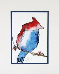 Watercolor Bird #140