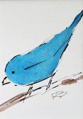 Watercolor Bird #453
