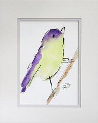 Watercolor Bird #439