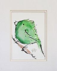Watercolor Bird #344