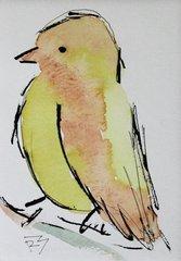 Watercolor Bird #413