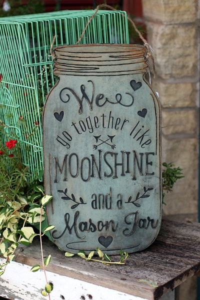Together Like Moonshine Wood Sign The Faded Clover