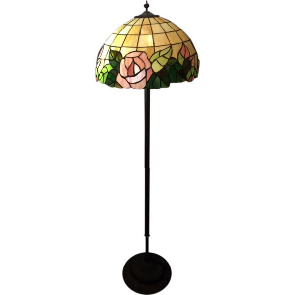 Tall tiffany style lamp estate liquidators hawaii for Tiffany style vase floor lamp