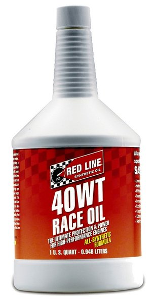 Red line 40w synthetic racing motor oil 1 us quart for Racing motor oil brands