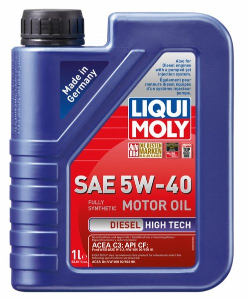 Liqui Moly 5w 40 Diesel High Tech Semi Synthetic Motor Oil