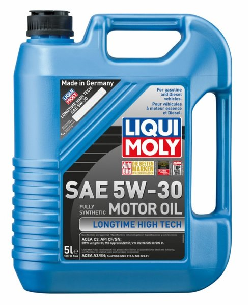 Liqui moly longtime high tech 5w 30 synthetic motor oil for Top 5 synthetic motor oil