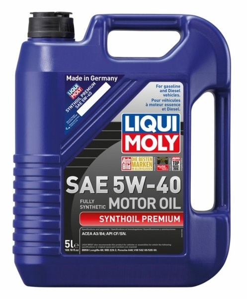 liqui moly 5w 40 synthoil premium full synthetic 5 liter