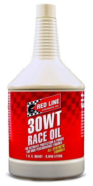 Red line 30w synthetic racing motor oil 1 us quart for Racing motor oil brands