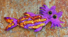Metal Catfish Wall Art