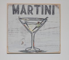 Martini Wooden Wall Art