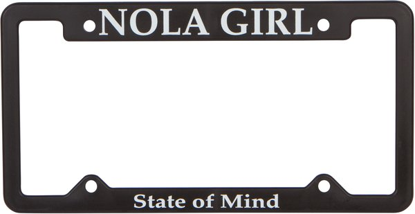 nola girl license plate holder - Mermaid License Plate Frame