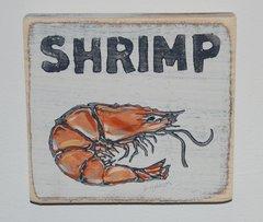 Shrimp Wooden Wall Art