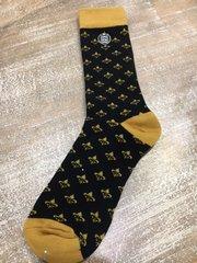 Black and Gold Fleur De Lis Socks
