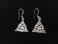 Sterling Celtic Knot Triangle Earrings